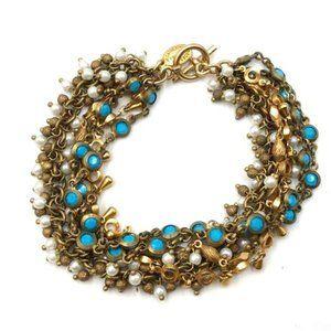 Catherine Popesco Multi Strand Beaded Bracelet